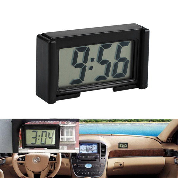 best selling BK-208 Car Auto Desk Dashboard Digital Clock LCD Screen Self-Adhesive Bracket Car Interior Accessories Sticker Time Date High Quality