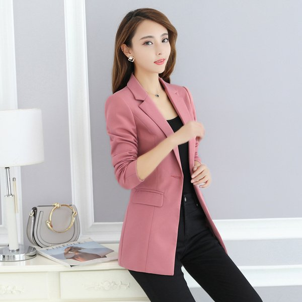 New hot fashion trend women's business office formal professional suit jacket ladies slim single button wild suit jacket