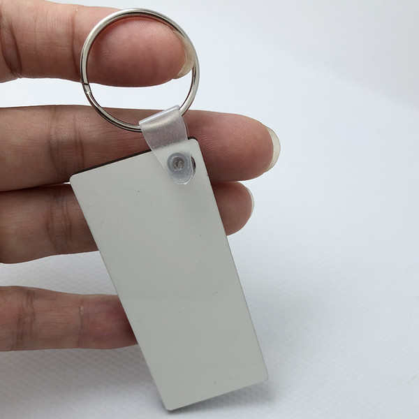 Wholesale 10pcs DIY MDF Blank Key Chain Sublimation Heat Press Transfer Wooden Key Ring Photo &Logo Thermal Printing Gift-Free ship