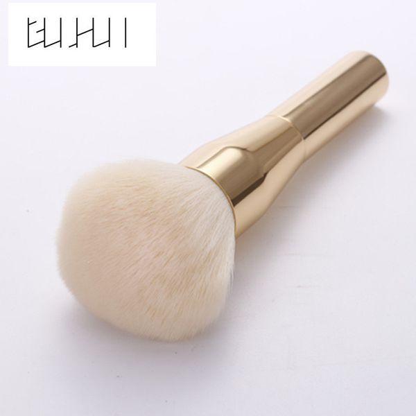 GUJHUI 1Pc Rose Gold Powder Blush Large Brush Professional Makeup Brushes Cosmetics Foundation Make Up Tool