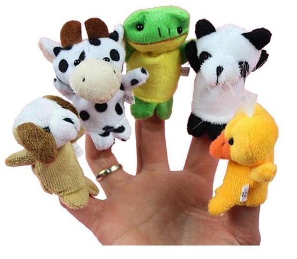 Finger Plüschtiere Finger Tier Plüschtiere Erzählen Geschichte Requisiten Cartoon Tiere Kinder Spielzeug Kind Baby Favor Puppen