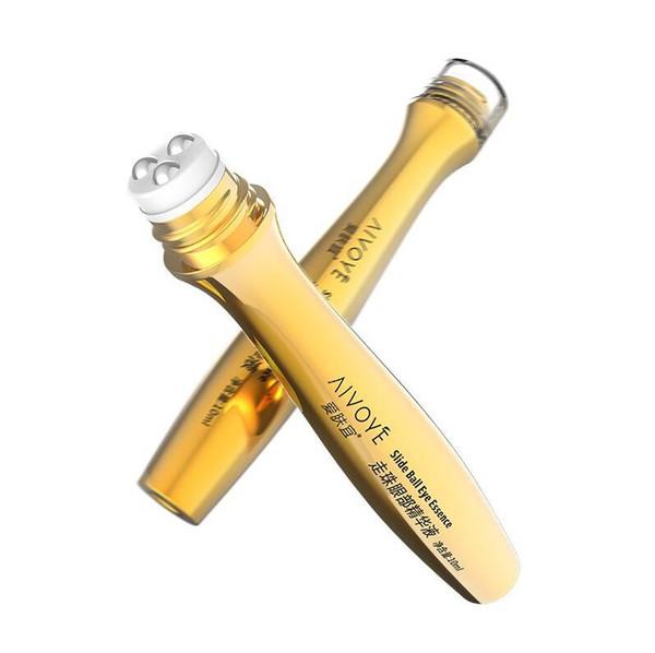 Gold Roll Ball on Eye Cream Pouch Moisturizing Dark Circle Essence Crystal Collagen activating eye cream 10ml Free Shipping