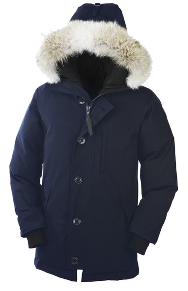 Goose Men's Chateau Parka Long Hooded Down Jacket Comfortable And Breathable 90% White Goose Down Warm Jacket
