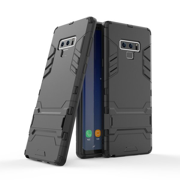 Hybrid TPU+PC Iron Man Armor Shield Case For Samsung Galaxy Note 9 Luxury Stand Holder Protector Back Cover Case