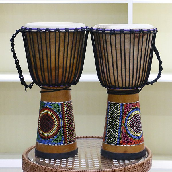 40cm African Djembe Drum Djembe Drum Bongo Congo African Solid Wood Drum  African Musical Instrument Home Decor Random Pattern Unique Funny Gifts For