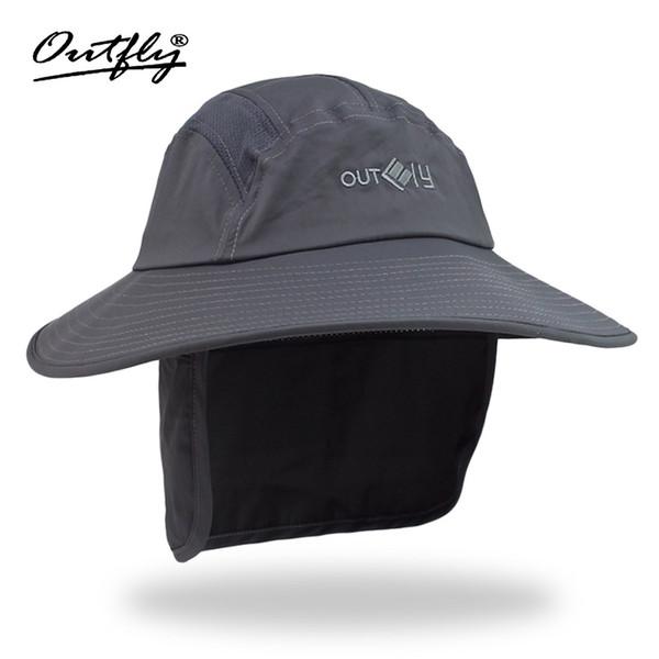 2018 Protezione solare esterna anti-raggi ultravioletti Arrampicata Protezione del collo del cappello ad asciugatura rapida lungo il cappello da pescatore Cappello da sole Bob