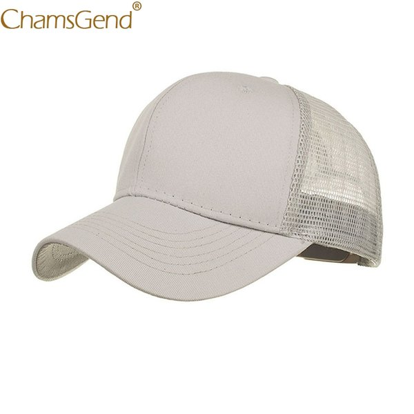 Women Men Boys Girls Breathable Mesh Baseball Caps Summer Solid Sun Hat