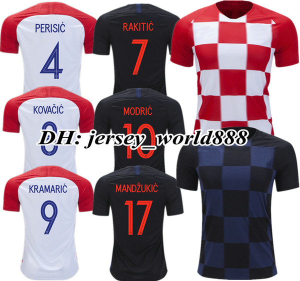 ec6b02a329b MODRIC 2018 World Cup Croatiaes Home red away blue Soccer Jersey PERISIC  RAKITIC MANDZUKIC SRNA KOVACIC