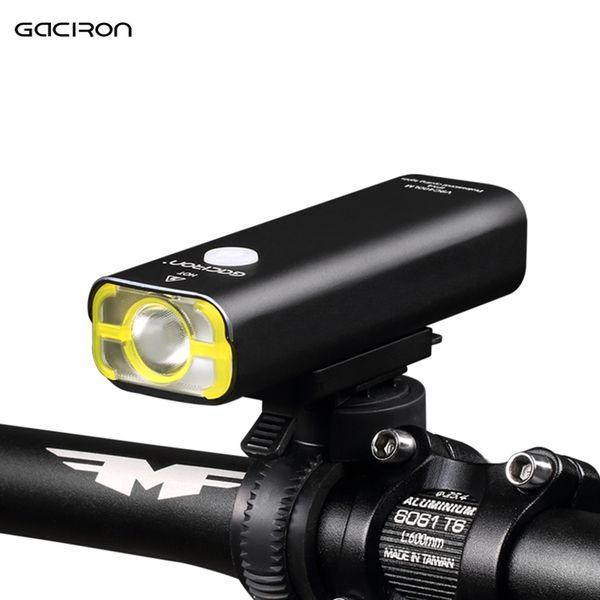 GACIRON USB Rechargeable Bicycle Light Front Handlebar Cycling Bike Light Led Battery Flashlight Torch Headlight Lamp Y1892709