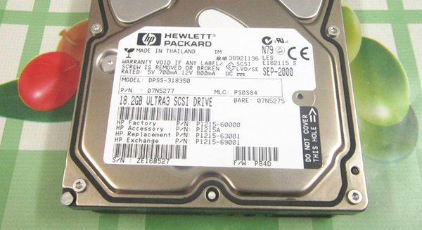 100% испытанная работа улучшите на HP 18G / 18.2 GB SCSI 68 P1215A 07N5277 DPSS-318350