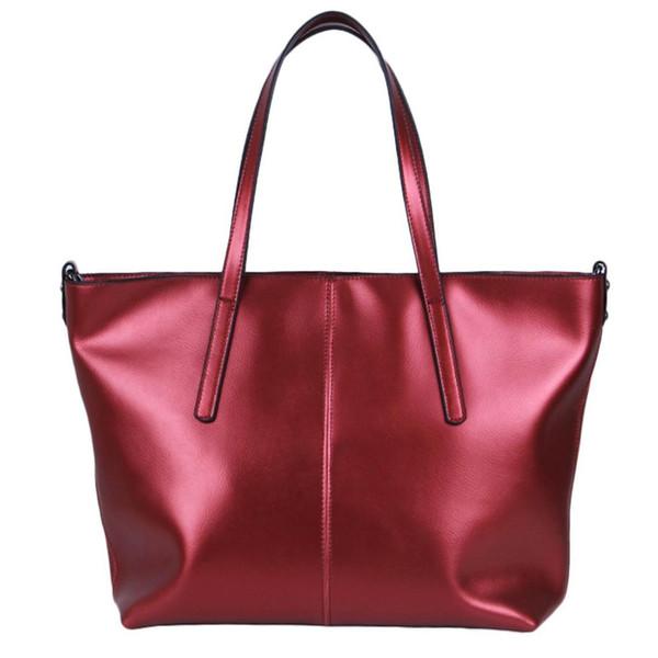 Sacos de compras Bolsas femininas Bolsas de couro Sacos Crossbody Lazer Shoulder Red