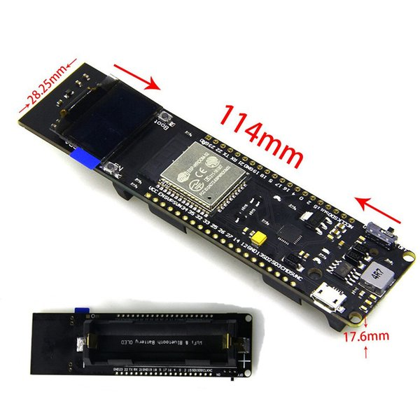WiFi & Bluetooth ESP32 Development Board With 0 96 Inch OLED + 18650  Charging Battery Case Wireless Remote Controller Rf Remote Controls From  Baiheyu,