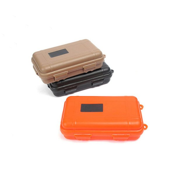 New Hot Outdoor Sport Gear Shockproof Waterproof Box Sealed Box EDC Tools Wild Survival Storage Box Best Quality DHL Free