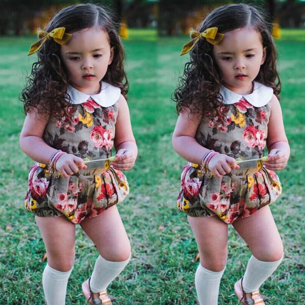 2018 sommer neue design für kinder mädchen ein stück overall infant kleinkind baby mädchen baumwolle strampler kinder körper anzug kleidung outfits
