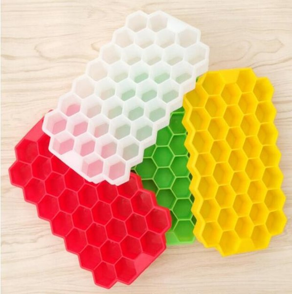 Newly Multi-Style Silicone Ice Ball Cube Tray Freeze Mould Ice Cube Tray Ice-making Box honeycomb Mold For Bar Party Tools Random Color