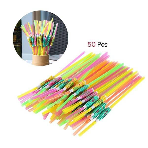 Christmas 100pcs Paper Drinking Straws Flamingo Straws Wedding Birthday Party Hawaiian Style Tropical Drinks Party Favor