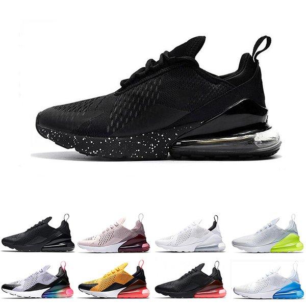 49b2506159 Best discount 270 running shoes triple black Bruce Lee TEA BERRY Racer Blue  Hot Punch mens trainers women sports sneaker size 5.5-11