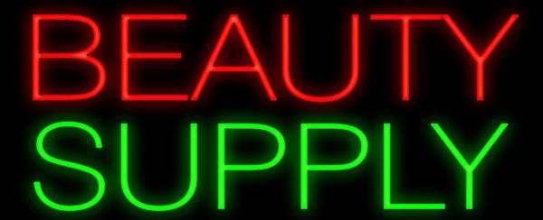 "Beauty Supply Neon Sign Custom Handcrafted Commercial Real Glass Tube Store Make Up Company Display Neon Signs 17""X8"""