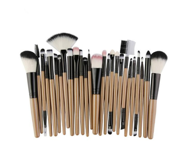 2018 HOT Factory direct beauty tools 25 PCS 9 COLORS Face Cream Power Foundation Brushes makeup brush set