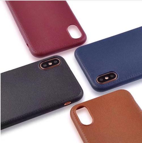 new style 421b1 5b9af Leather Pattern Phone Case For Iphone X 8 7 6 6s Plus 5 5s Soft Cover Back  Case For Iphone 6 Plus Phone Back Shell Bags Car Casas Leather Cell Phone  ...
