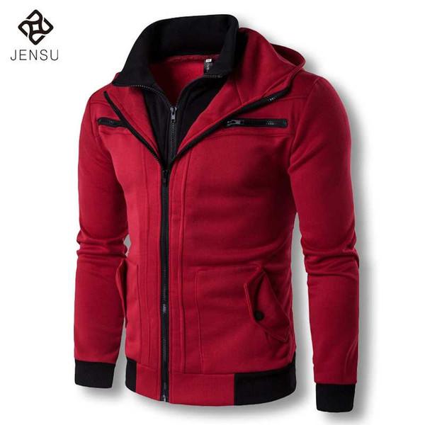 2017 Men Spring Hoodies Zipper Hooded Jackets Coats Tracksuits Sweatshirts Poleron Hombre Men's Casual Fashion Slim Fit Hoodies