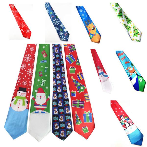 26 дизайн Рождественский галстук аксессуары для вечеринок мальчиков творческий Рождественский галстук партии танец украшения шеи галстук 30 шт.