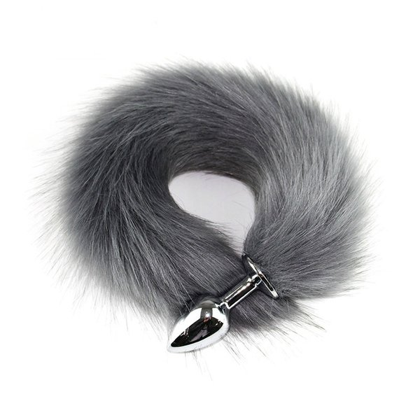 Animal RolePlay Cosplay Fox Tail Juguetes sexuales para mujer Productos Tienda Pelo falso Lovely Fox Tail Butt Metal Plug Juguete sexual anal largo D18111502