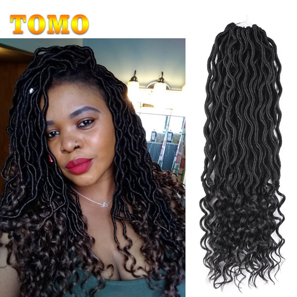 2018 Faux Locs Curly Braid 18 Inch Ombre Crochet Braids Synthetic
