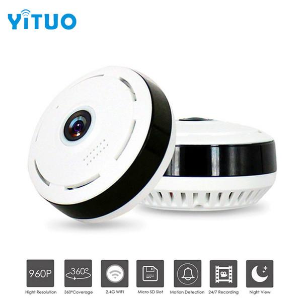 HD 960 P Wifi IP Kamera Ev Güvenlik Kablosuz 360 Derece Panoramik CCTV Kamera Gece Görüş Balık Gözleri Lens VR Kam YITUO