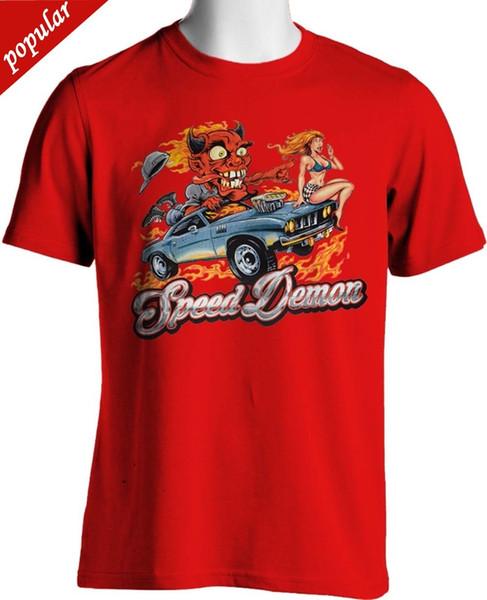 2018 New Brand T Shirt Men Dodge Speed Demon T Shirt Hot Rod Monster Sexy Girl Mens Small to 6XL & Tall Hip-Hop Tops Tees