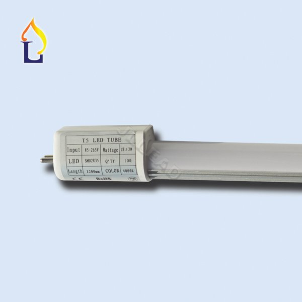 Stock in UST5 Led Tube Light 4ft 18W G5 smd2835 super bright lamp 28LM/LED inner driver led fluorescent replacement free shipping 36pcs/lot