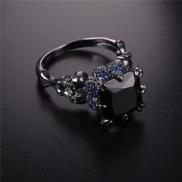 bague or obsidienne