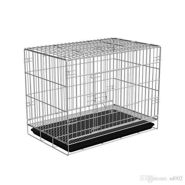 Pratique Fil Gros Pet Cage Épaississement Pliable Petit Chien Transporteur Cages De Fer Utiles Robuste Et Durable Top qualité 30hy ZZ