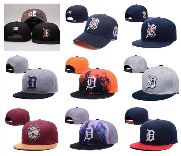 95f245e76 Wholesale Top Quality Tigers Snapback Hats Gorras Embroidered Letter Team  Logo Brands Hip Hop Cheap Sports Baseball Adjustable Caps Bones Fitted Hats  ...