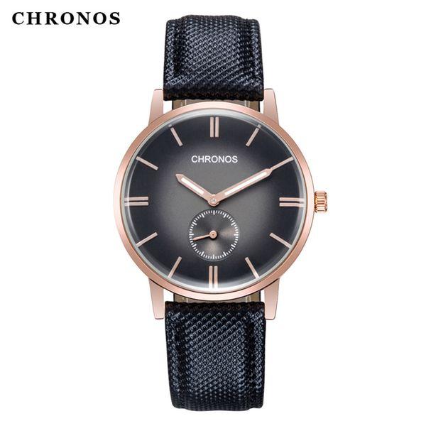 Relojes al por mayor Relojes de pulsera de cuarzo de moda de los hombres Relojes de pulsera portátiles Relojes deportivos Reloj de moda de lujo Reloj de PU banda