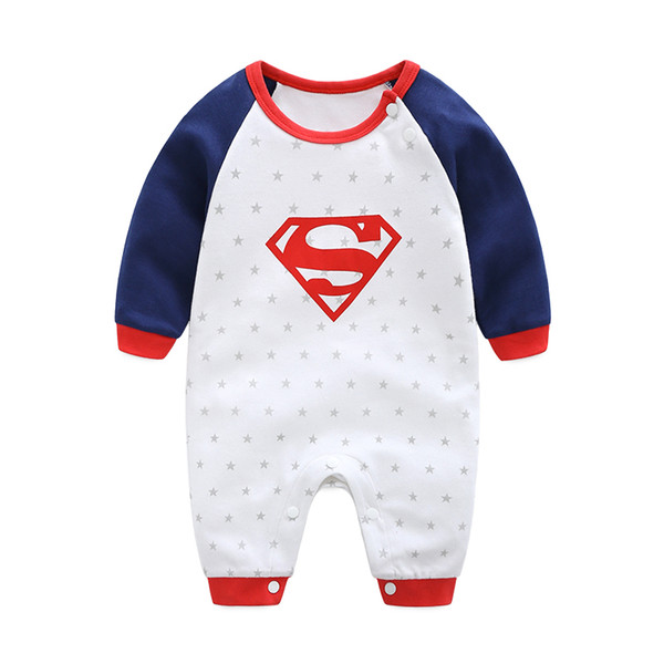 2018 New Fashion Cartoon Cotton Kids Boy Clothes Jumpsuit Batman Baby Boy Romper Superman Baby Gilr Romper Baby Costume Clothing