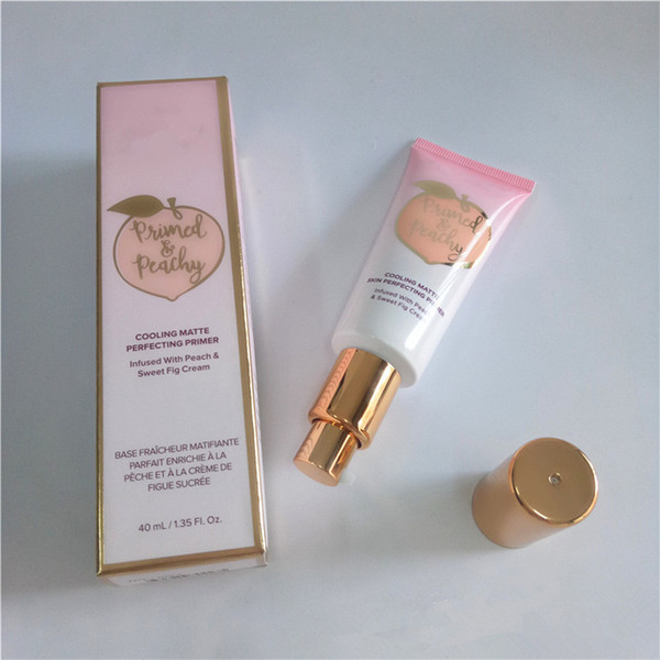 Faced Brand Matte Foundation Makeup Primer Primed Peachy Peach Perfecting Primer Infused with Peach & Sweet Fig Cream 40ml