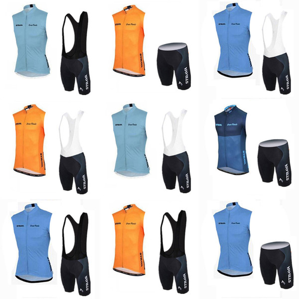 STRAVA team Cycling Short Sleeves jersey (bib) shorts sets Outdoor cycling bike set cool and comfortable summer breathable c2413