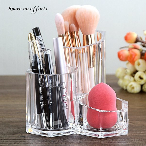 Makeup Brushes Holder Box Organizer Cosmetic Tools Multifunctional Make Up Accessories Makeup Brush Rack Holder Boite Rangement