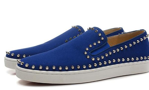 para zapatos low top populares ante hombres azul 18 cielo rojos inferiores planos spiked slip mocasines xwT1qCxn
