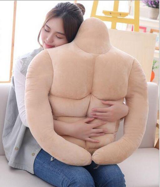 1 stück Kreative Gefüllte Stofftier Mann Freund Körper Modellierung Sexy Muskel Männlichen Plüsch Weiches Kissen Geschenke Spielzeug für Mädchen