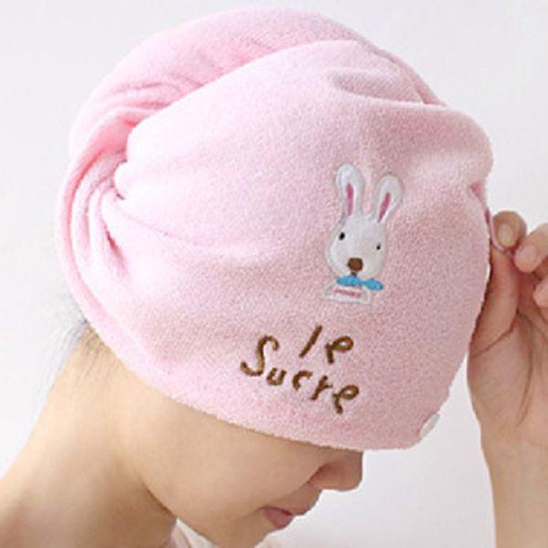 Natural Microfiber New Creative Hair Turban Quickly Dry Hair Cartoon Shape Hat Wrapped Towel Effects Skin Bathing Cap 23Jun 14