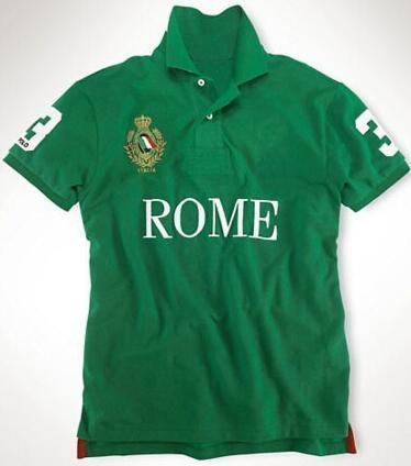 Polos con cuello de algodón para hombre de Paris, camisetas de polos deportivos, tops de tallas S-XXL blanco verde