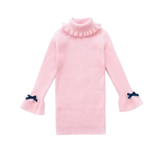 Girls Sweaters For Children Bottoming Shirts Autumn Winter Turtleneck Dresses For Girls Knitwear 4 6 8 10 12 Years Warm Sweaters