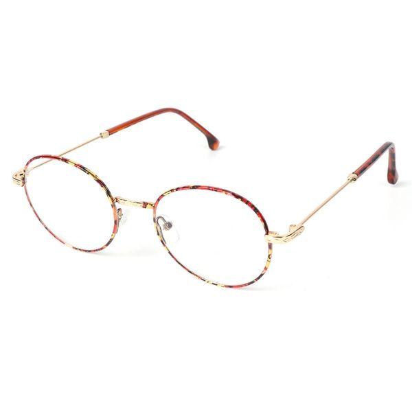 4f4c03ebba Gafas de lentes transparentes redondas sin marco de metal vintage floral  mujeres hombres gafas modernas