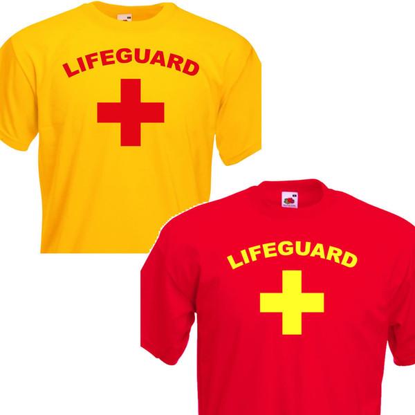 Lifeguard, Funny Retro Mens Stag do, Fancy Dress T Shirt. , Envío rápido Divertido envío unisex casual regalo de la camiseta