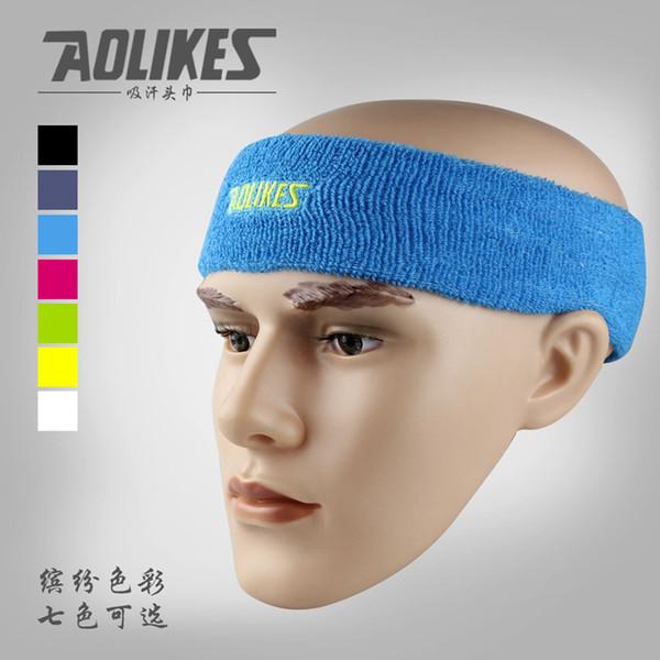 High Quality Cotton Sweat Headband For Sports Men Sweatband women Running Fitness Yoga Hair Bands Head Sweat Bands
