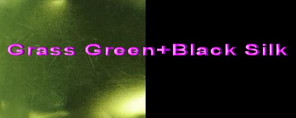 Grass Green+Black Silk