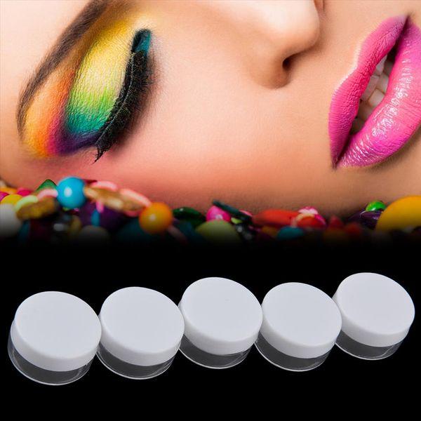 50 teile / los 5g Kosmetische Ball Container 10 farben Sie wählen Lippenbalsam Jar Eye Gloss Creme Probe Kunststoff Reise Fall 2017 neue