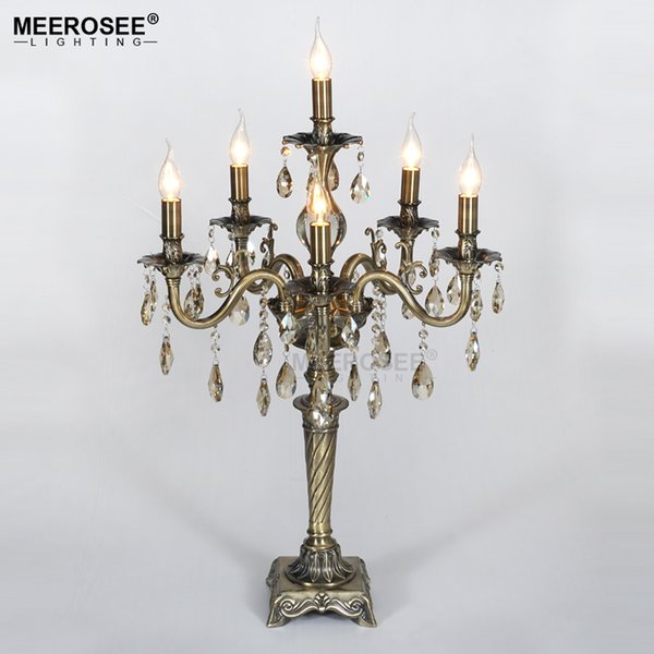 2019 Vintage Crystal Table Light Desk Light For Reading Room Crystal Table Lustres De Cristal Lighting Home Decoration From Zhoukoulight 699 31
